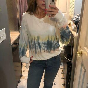 Wildfox tie dye pullover sweat shirt